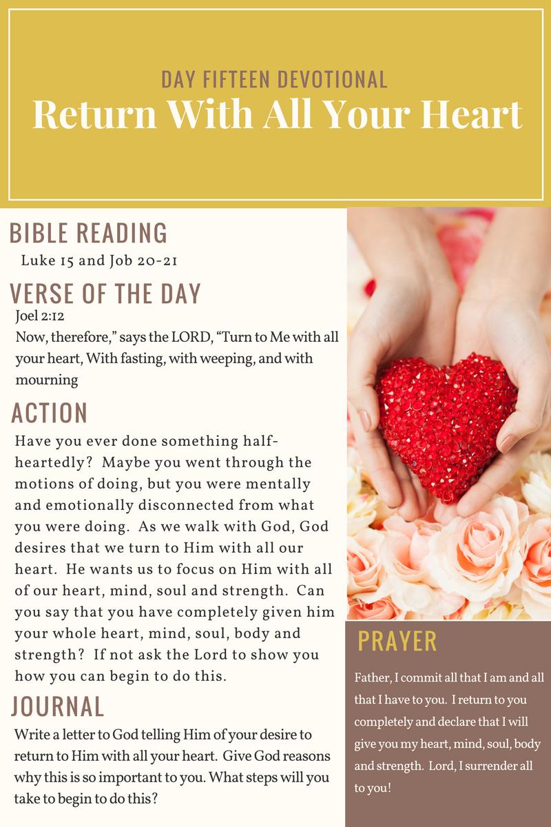 Day 15 - 21 Day Devotional