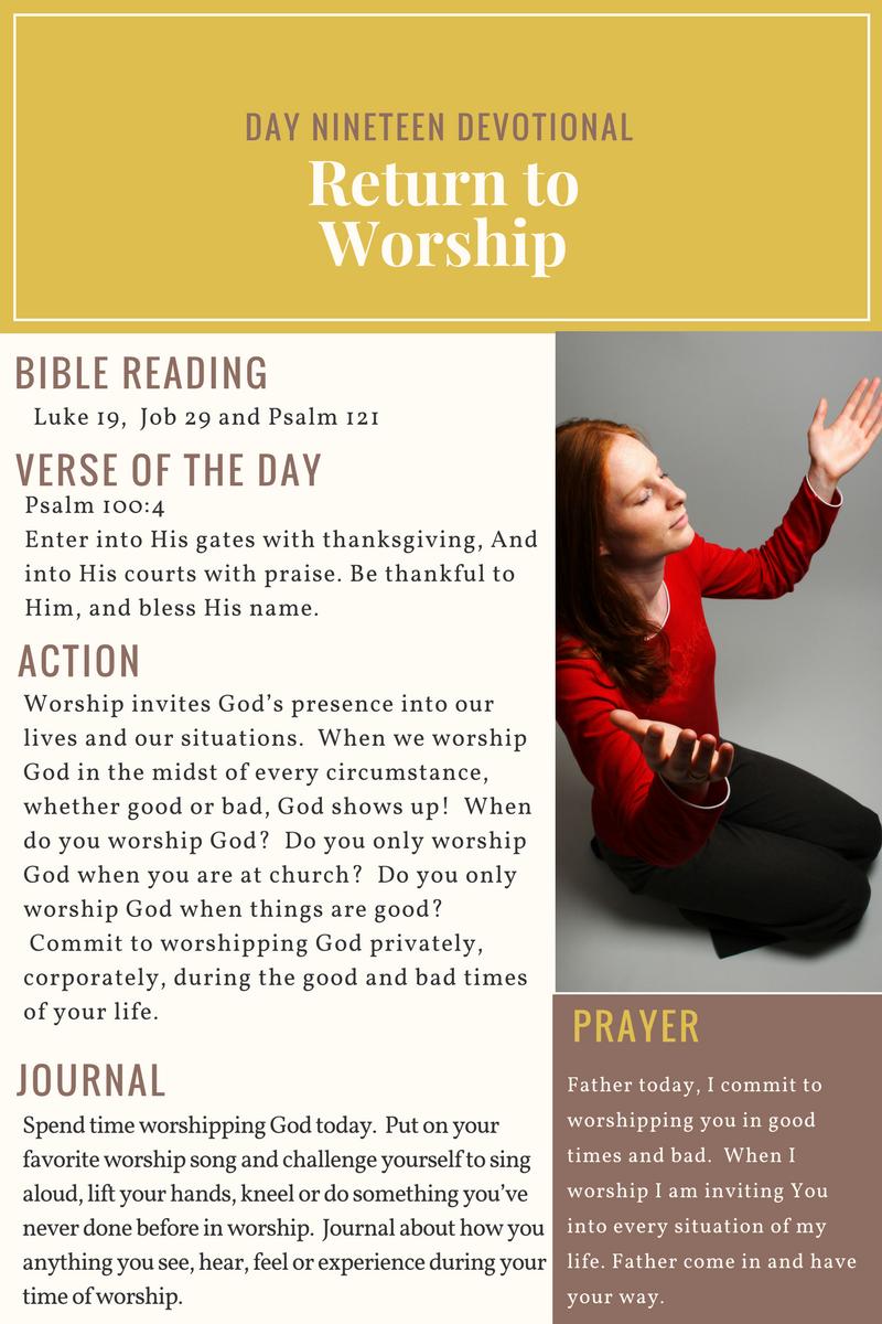 Day 19 - 21 Day Devotional