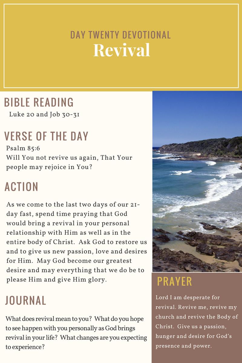 Day 20 - 21 Day Devotional