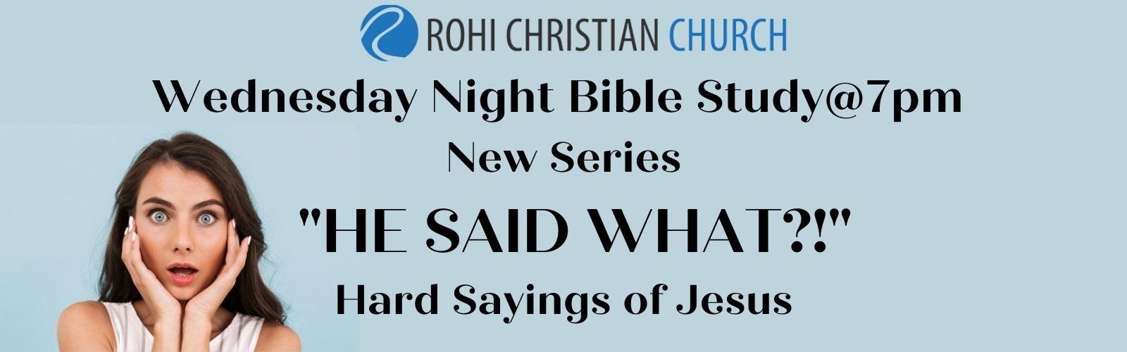 Wednesday Night Series